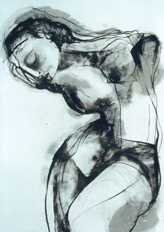 Drawing by Carmel Jenkin  Disavowed, Charcoal and linseed oil on canvas, 81cm x 57cm
