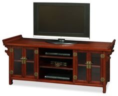 Elmwood Altar Style Media Cabinet Asian Entertainment Centers And Tv Stands China Furniture
