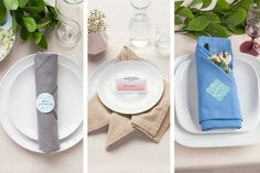 Table Setting Tips: Basic Napkin Folds | Evermine Blog | www.evermine.com