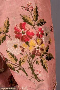 Robe a la Francaise (image 6 - detail) | culture unknown | 1770-1780 | silk, linen | Augusta Auctions/Tasha Tudor Historic Collections | November 2007/Lot 117