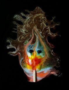 michael massaias' melting ice pops look like abstract surrealist art