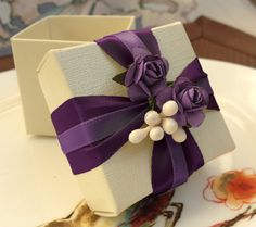 Another purple favor box