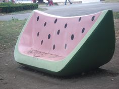 "watermelon bench, would love to have this in a ""breakfast"" nook. :3"