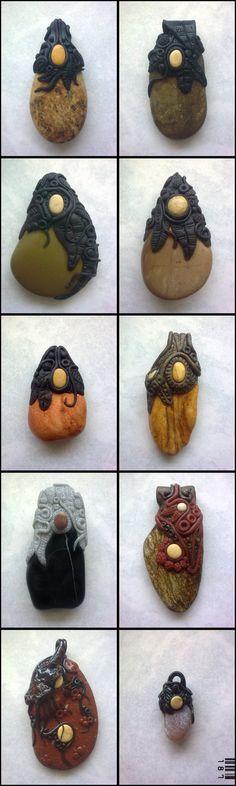 polymer clay pendants... by 187designz