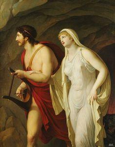 Orpheus and Eurydice. 1807. Johann August Nahl the younger. German. 1752-1825. oil on canvas.