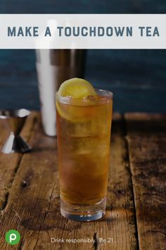 Publix Aprons® helps you win with a Touchdown Tea this Father's Day. A bourbon, tea, and lemonade refresher that gives Dad something special to cheer about. Tea Cocktails, Fun Drinks, Yummy Drinks, Diet Drinks, Alcohol Recipes, Tea Recipes, Healthy Recipes, Publix Recipes, Peach Schnapps