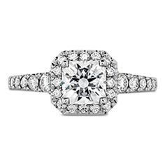 Hearts on Fire-Transcend Premier Dream Halo Engagement Ring available at Creations Fine Jewelers Napa, CA 707-252-8131