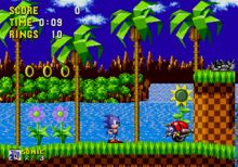 Sega Genesis...  It has Sonic the Hedgehog...  Didn't it just end when you passed it?