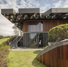 Completed in 2015 in South Korea. Images by Harry Cock. Taekwang Country Club is a 36-hole golf course located just outside of Seoul. The new two-floor café is nestled in a steep hill, acting as a visual...