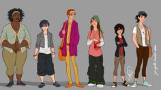 Rule 63! Big Hero 6 by juliajm15 I finished 2014 with this movie and.. DAMN  It's incredible!! <3 So, here's my gender-swapped version of the characters xD have fun with the names