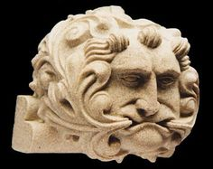 40: Green Man roof boss, Wells Cathedral, undercroft. c.1225 | Jack o The Green | Fine Stone Miniatures