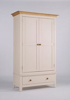 Camden Painted Pine & Ash Wardrobe with Drawer