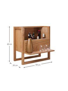 Mini bar in legno di quercia NewEst | WestwingNow Mid Century Bar Cabinet, Mini Bar, Shoe Rack, Magazine Rack, Storage, Furniture, Home Decor, Purse Storage, Decoration Home
