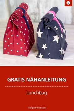 Free sewing instructions: Sew lunch bag # sewing instructions # sewingpower happy # pocket sewing sew einfach clothes crafts for beginners ideas projects room Knitting Websites, Knitting Blogs, Mochila Tutorial, Collier Lariat, Sac Lunch, Lunch Bags, Free Crochet Bag, Diy Accessoires, Diy Handbag