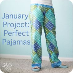 Perfect pajama pants.  How to draft and sew your own perfect fit PJ pants.  Works for any size, including the kids. @ The Sewing Loft