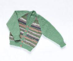Boys Cardigan  On Safari. Hand Knit Cardigan. by ACrookedSixpence
