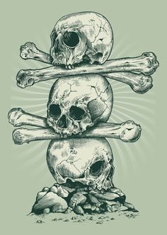 Skull artist Rachel Caldwell