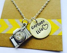 Photography Necklace Camera Necklace by UniquelyImprint on Etsy