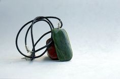 Natural #BC #Jade free form pendant modern style by SAGaStone