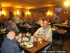 Diners enjoy a meal at the Smok-Shak Restaurant in Ingersoll, Oklahoma.