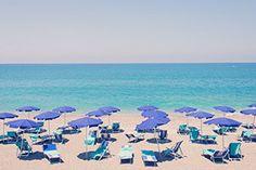 $299.00 Capo D'Orlando Blue Umbrellas - Gray Malin
