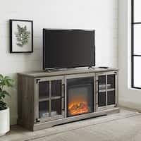Fireplace Tv, Soft Close Doors, The Gray Barn, Flat Panel Tv, Fireplace Tv Stand, Glass Barn Doors, Tv Stand, Farmhouse Fireplace, Fireplace Inserts