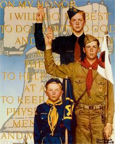 'I Will Do My Best' by Norman Rockwell (1874-1978, American)