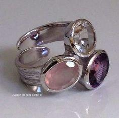 Metalen ring gouden driehoek