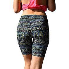 Pantalons pour Femmes Imprimés Sports Pantalons Taille Ocasional Yoga Haute  Pantalons De Sport Fitness Shorts De c0266b008e8