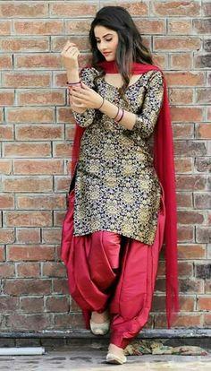 Family suit for women Patiala Suit Designs, Kurta Designs Women, Kurti Neck Designs, Churidar Designs, Kurti Designs Party Wear, Patiala Salwar Suits, Indian Salwar Kameez, Punjabi Suits Designer Boutique, Indian Designer Suits