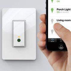 Wi-Fi Light Switch by WeMo $50