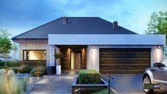 House Fertighaus bungalow mit garage How A Pendulum Works to Keep Time (Part Up until about the 1 Modern Family House, Modern Bungalow House, Bungalow House Plans, House Plans Mansion, New House Plans, Modern House Plans, House Front Design, Small House Design, Modern House Design