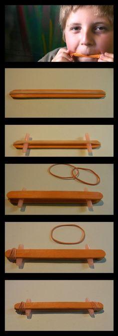 Afocal Bretagne. 2 bâtons de glace, des élastiques, un peu d'assemblage, et voilà un kazoo ! Pensez à tester votre activité en amont !