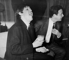 Paul McCartney & Brian Epstein (1964) #brianepstein #paulmccartney #1960s