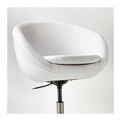 IKEA - SKRUVSTA, Swivel chair, Idhult white, , You sit comfortably since the chair is adjustable in height.The safety casters have a pressure-sensitive brake mechanism that keeps the chair in place when you stand up, and releases automatically when you sit down.The casters are rubber coated to run smoothly on any type of floor.