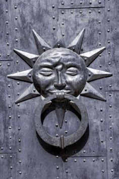 Historical Door Knocker sun