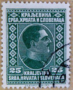King Alexander I of Yugoslavia - An Old Yugoslav  stamp - Kingdom of Serbs, Croats and Slovenes