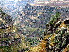This is a wonderful valley near the Saghmosavanq church (XIII century), Armenia
