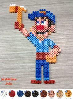 Felix Wreck-It Ralph perler beads by Les perles Hama de Jess