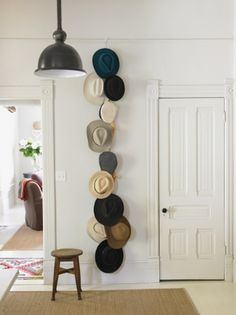These look SO much cooler than baseball hats... but it's baseball hats that I must have a storage solution for!