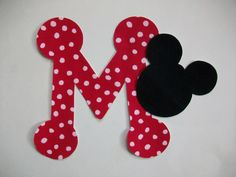 DIY No-Sew - Mickey Mouse Applique and Letter - Iron On. $3.00, via Etsy.
