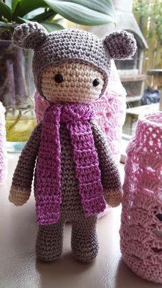 Gratis haakpatroon van Emmie de regenboog beer,  geïnspireerd op een  Lalylala patroon / free Dutch crochet pattern inspiration Lalylala