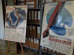 """Archivio Storico Regione Liguria, Genova. Esposizione di manifesti del """"Premio di Pittura Golfo della Spezia"""" in occasione di """"Invito in Archivio"""" per la #settimanadegliarchivi #ispiratidagliarchivi #GetInspiredArchives #archivisti2016"""