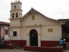 iglesia  en la plaza del chorro  de  Quevedo en Bogota