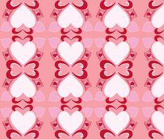 Heart Deco  (Art Deco Valentine) blush fabric by fabricfarmer_by_jill_bull on Spoonflower - custom fabric
