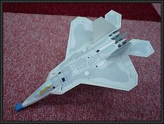 Lockheed Martin F-22 Raptor Fighter Ver.3 Free Aircraft Paper Model Download