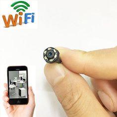 Red inalámbrica Wifi IP HD pequeño agujero de alfiler Mini Hágalo usted mismo de espía oculta cámara grabadora de video digital Grabador