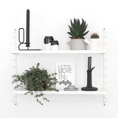 White Green inspiration Find this Hay Design Candle Holder in our shop Image v. Scandinavian Shelves, Scandinavian Interior, Interior Design Inspiration, Room Inspiration, Home Theaters, Pinterest Home, Boho Home, Piece A Vivre, My New Room