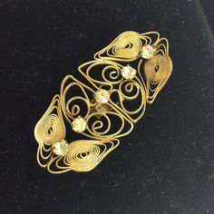 ART NOUVEAU PASTE Cannetille Buckle by BelleChambers on Etsy