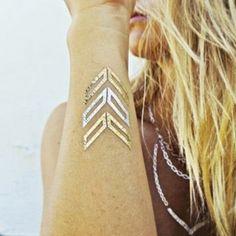 Gold leaf body art
